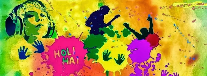 Holi 2014 Facebook Covers