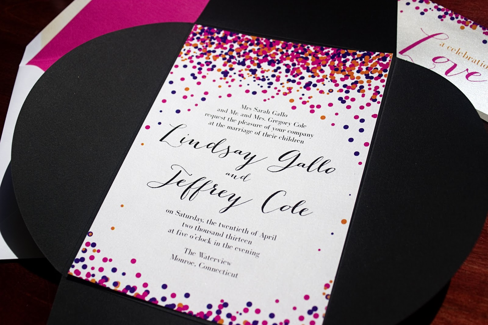 Tulaloo: TULALOO CT WEDDING INVITATIONS: confetti!!