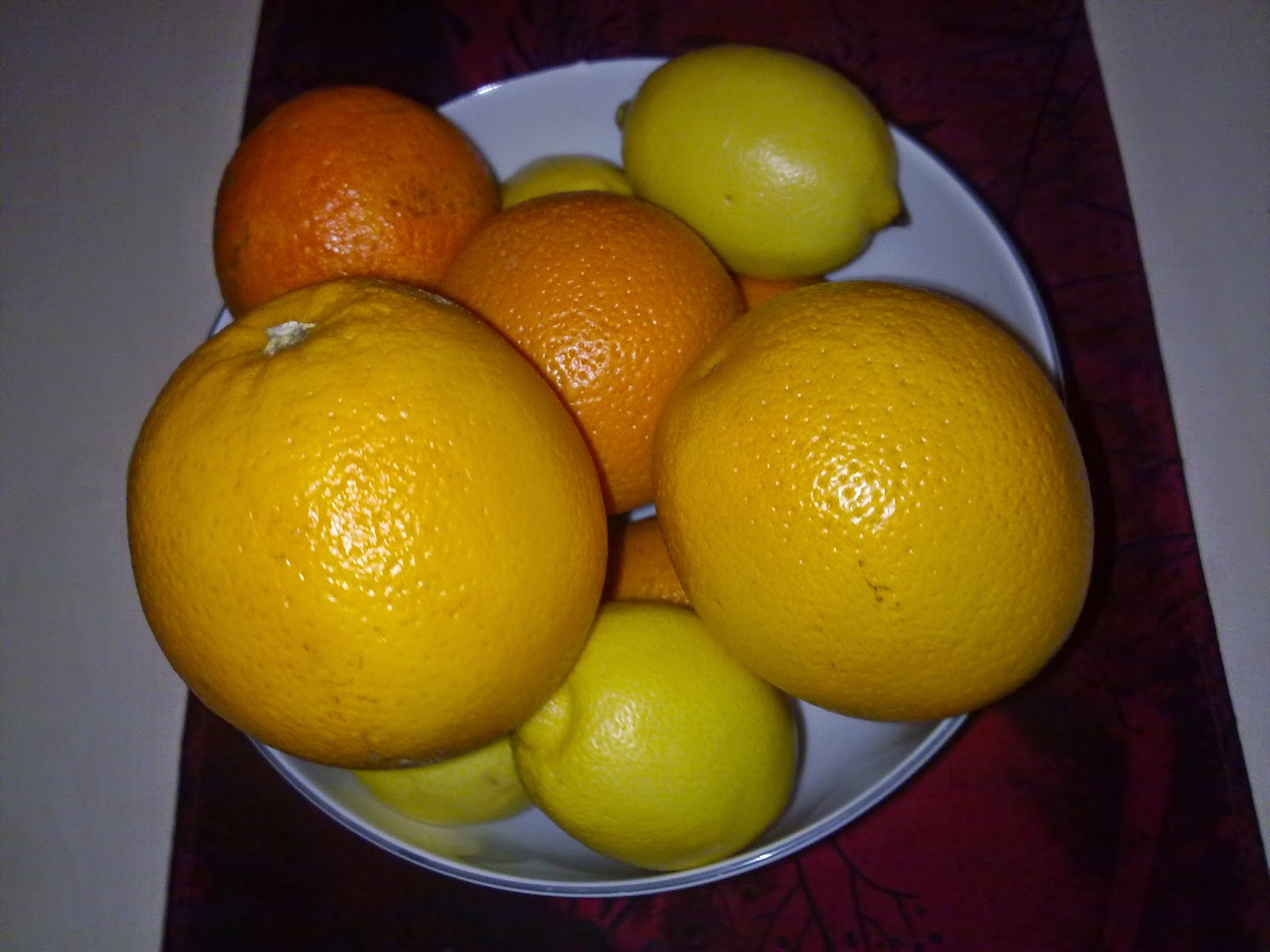 Orangenschale behandelt