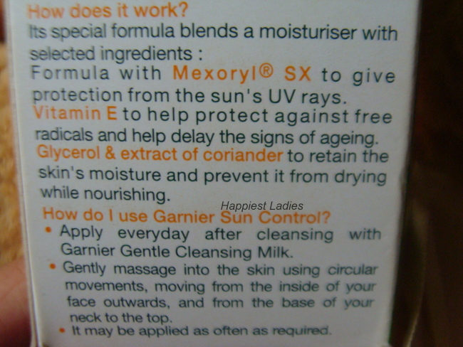 Garnier Sun Control Daily Moisturiser SPF 15 How to use+best face moisturizer
