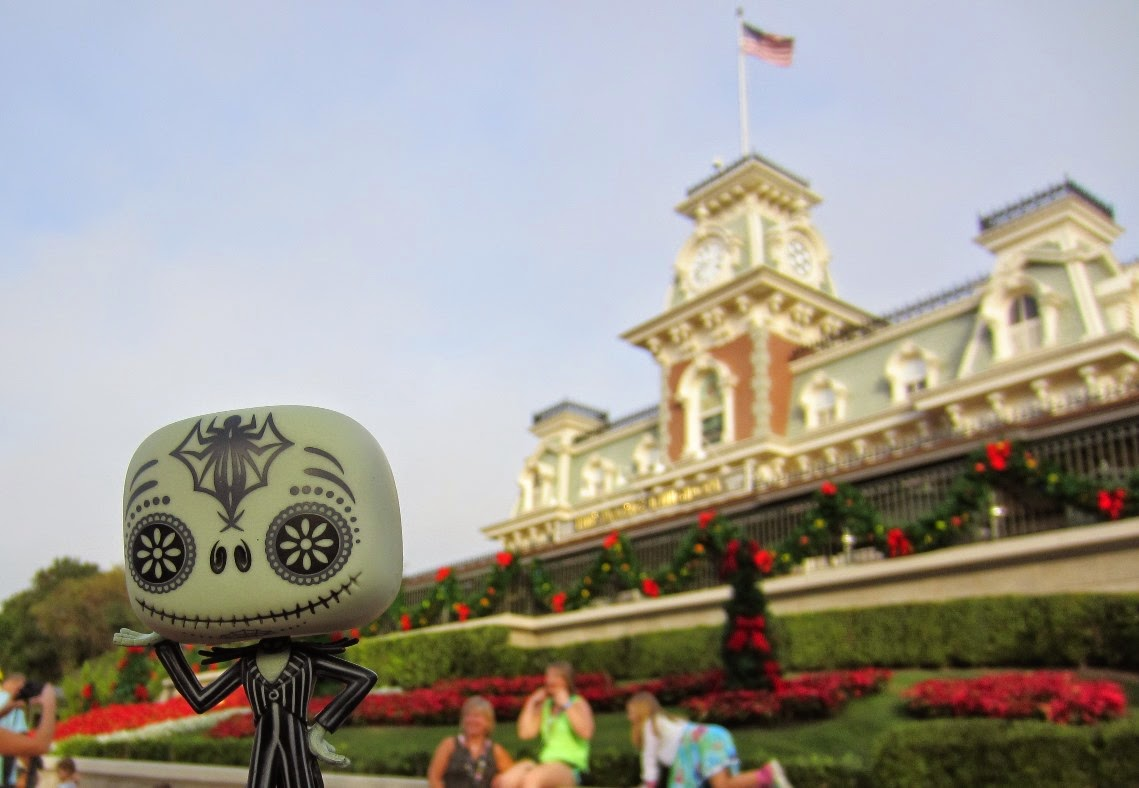 Jack Skellington's Walt Disney World Trip Selfies Magic Kingdom