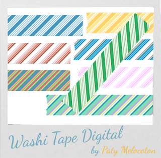 Washi Tape Digital Rayas