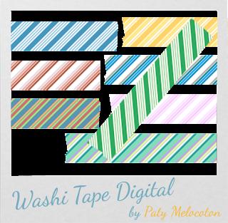 Washi Tape Digital Rayas
