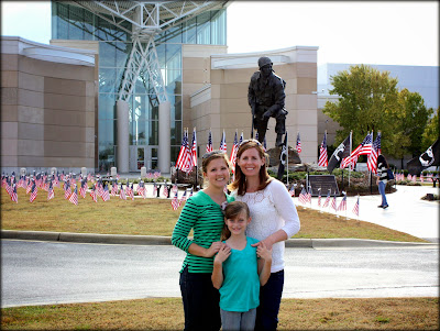 Allison, Iris and Caroline in front of the Airborne and Special Operations Museum.