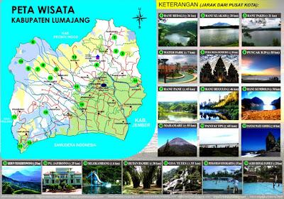 Peta Wisata Kabupaten Lumajang