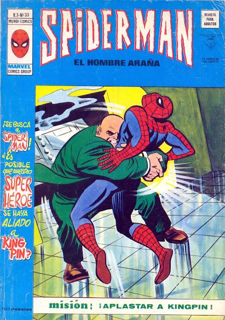 Portada Spiderman Volumen 3 Nº 33 Ediciones Vértice