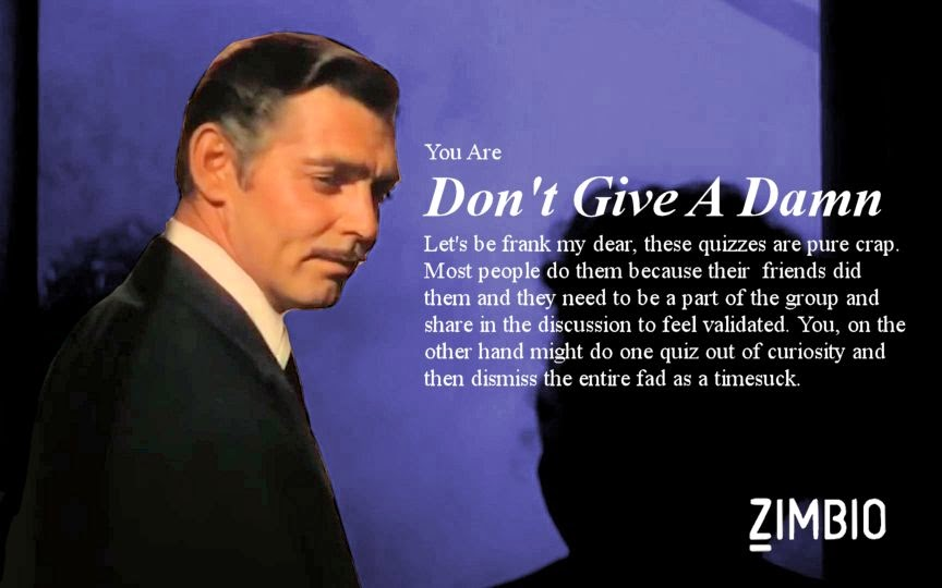 Rhett Butler Zimbio Quiz answer