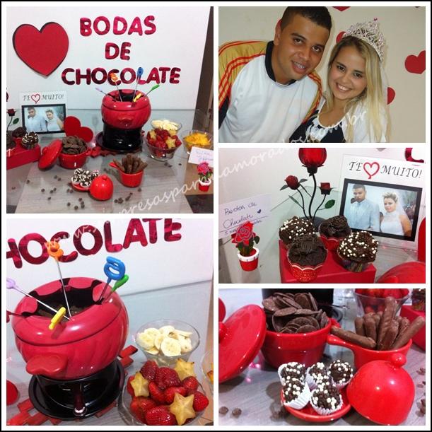 bodas de chocolate 5 meses de namoro