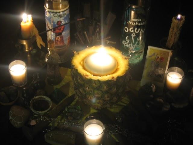 Conjured Cardea Lamp For Ogun