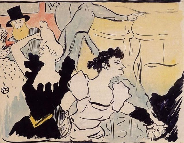 Toulouse-lautrec created a piece showing two women