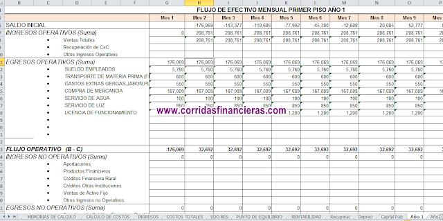Corridas Financieras para FND (financiera nacional, antes Financiera Rural)