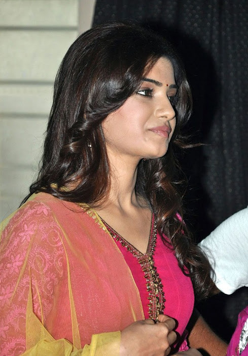 samantha beautiful in pink churidar photo gallery