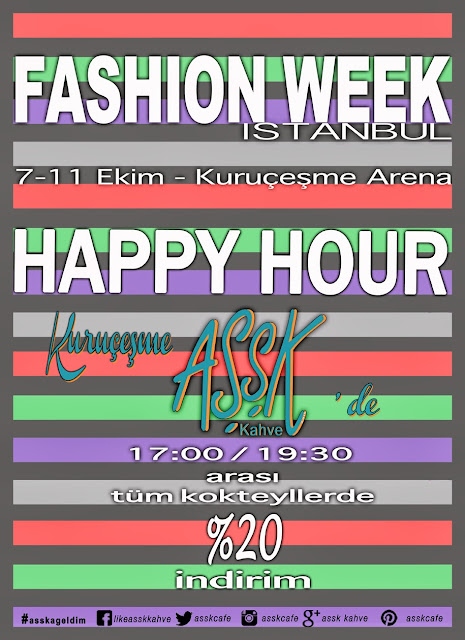 Aşşk Kahve, happy hour, fashion week party