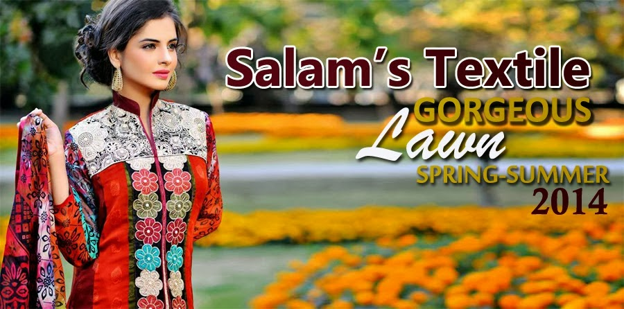 Salam's Textile Gorgeous Lawn Collection 2014