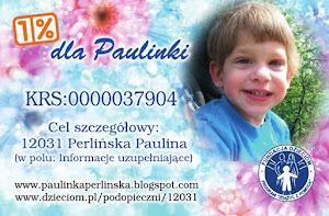 Przekaż 1% podatku dla Paulinki