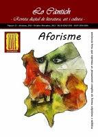 Lo Càntich - N.21 - Aforisme, 2013