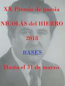 BASES PREMIO NICOLÁS DEL HIERRO 2018