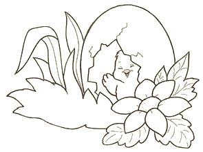 a desenhar Pintinhos e Patos colorir