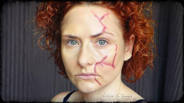rojo, burdeos, marron, cicatriz