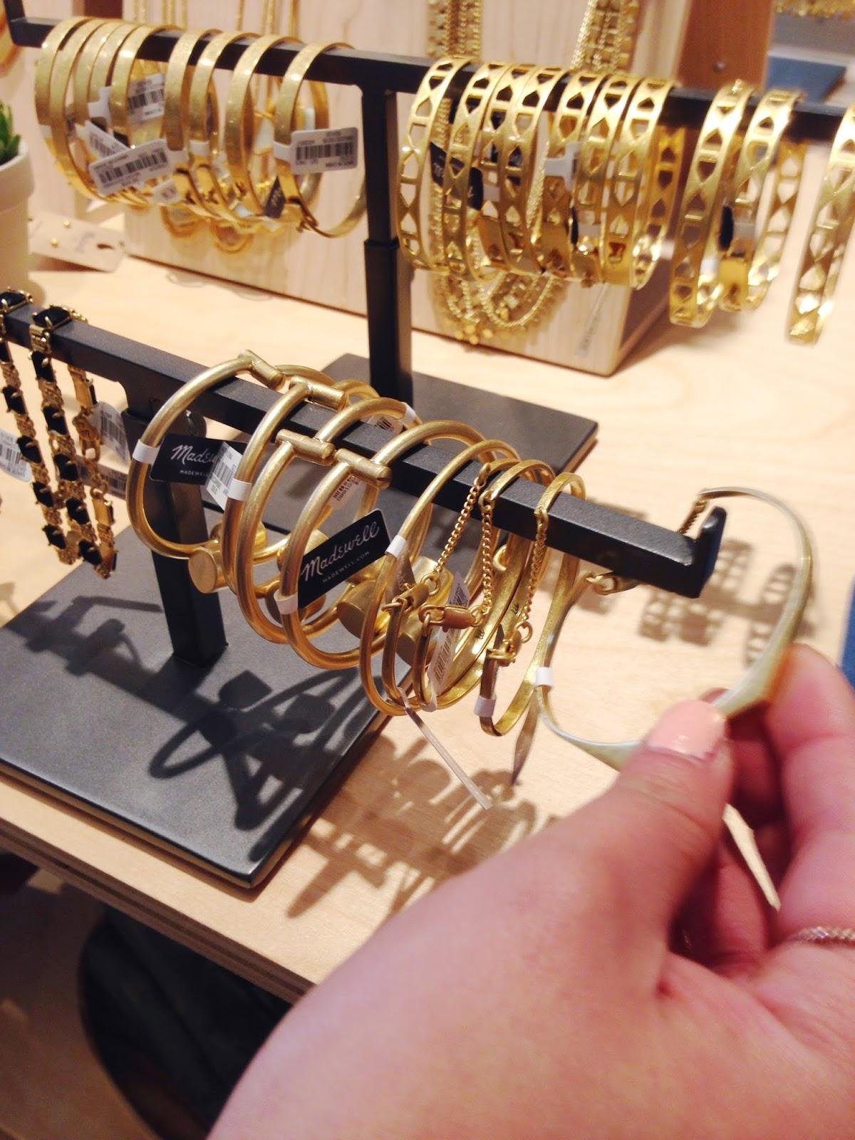 madewell jewelry gold bracelet ptowngirls