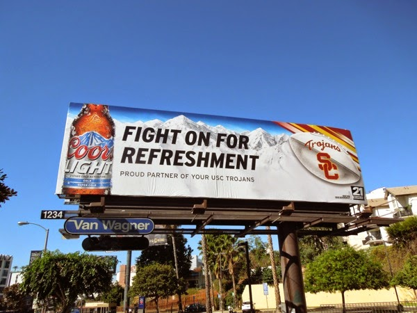 Coors Light USC Trojans billboard