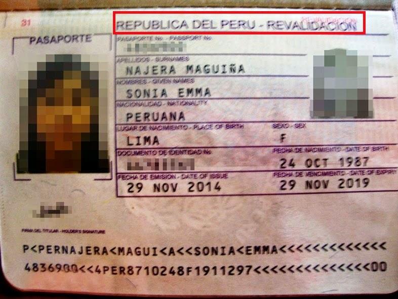 renovación de pasaporte peruano