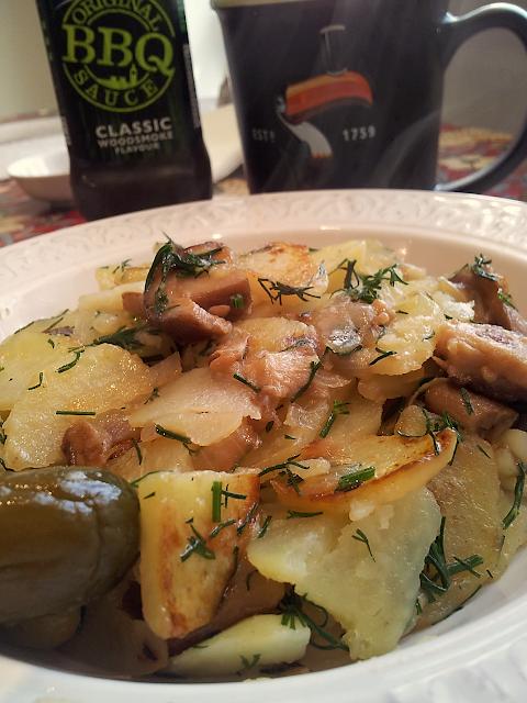 очень вкусная жаренная картошка постные блюда укроп пост гарнир ухо от селедки