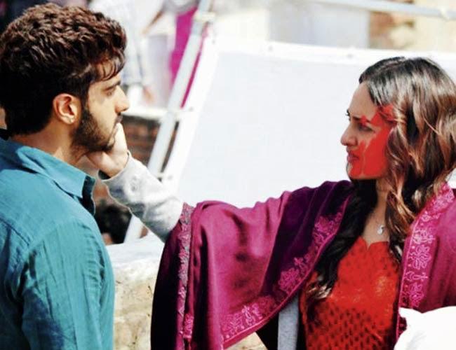 Arjun Kapoor with Sonakshi Sinha in Tevar