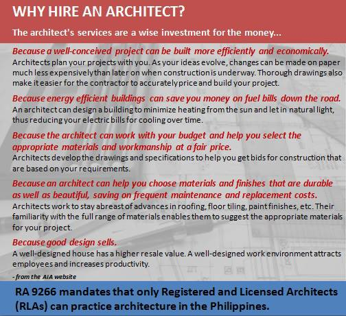 Why Hire An Architect Philippine Architecture And