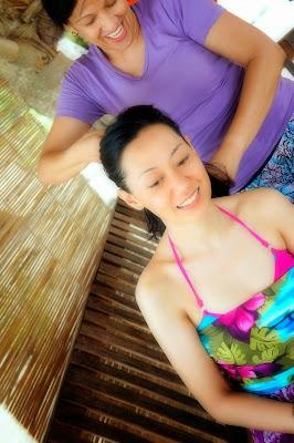 Trisha Sebastian hairbraids in Isla Pandan Day Resort Puerto Princesa Palawan | Julius Sebastian