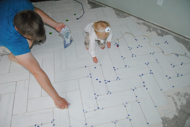 How to layout a tile floor