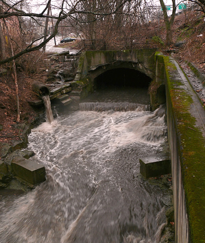pollutants enter water body from different locations