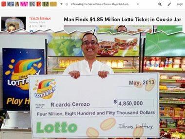 Homem esquece bilhete de loteria de R$ 9,6 mi em pote de biscoito