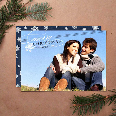 printable diy holiday christmas snowflake unique modern photo card greeting