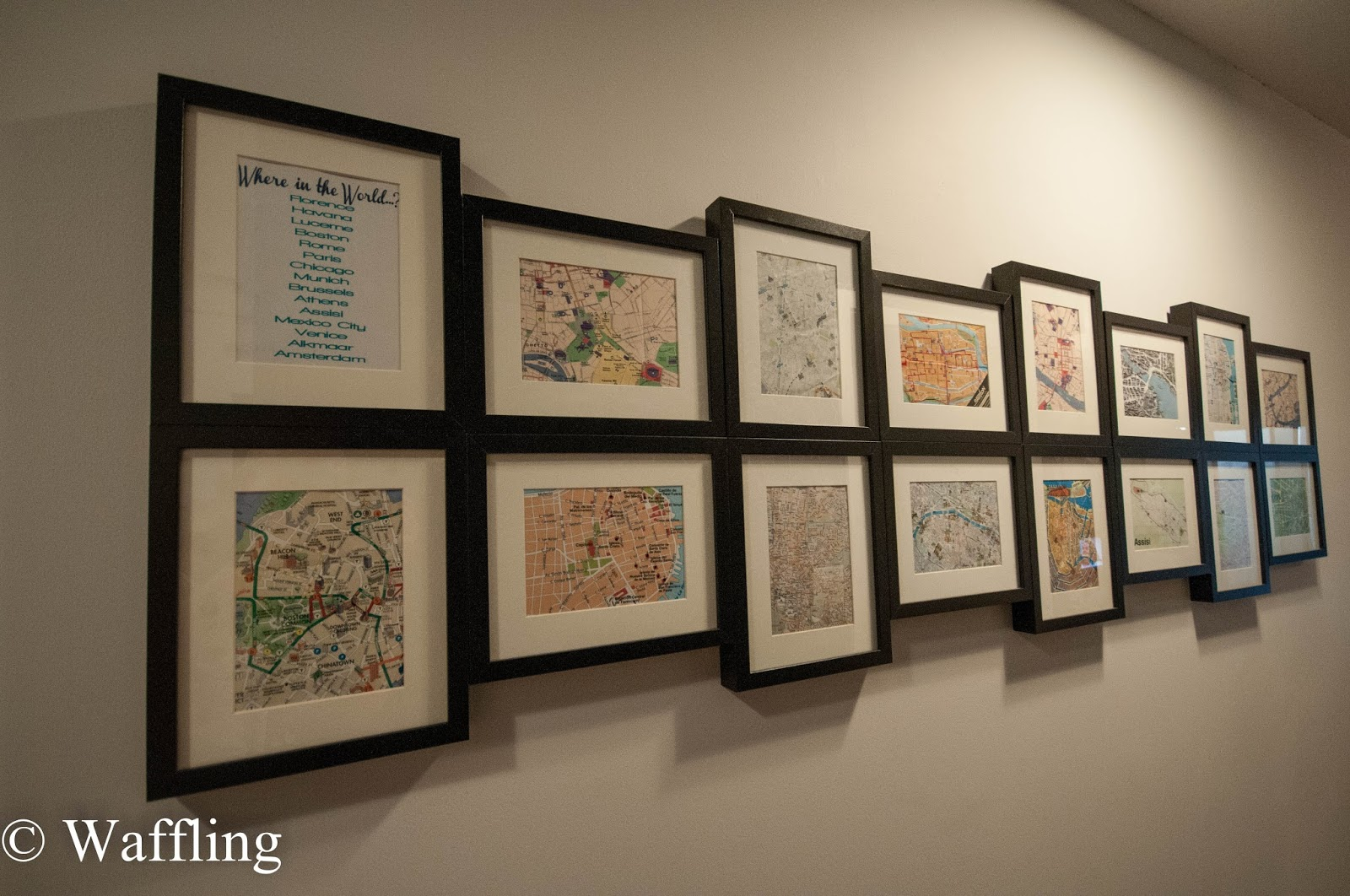 Waffling map gallery wall update map gallery wall update gumiabroncs Gallery