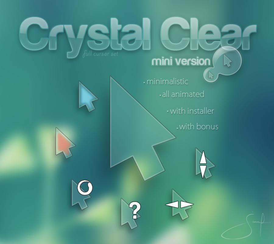 crystal clear mini cursors. Black Bedroom Furniture Sets. Home Design Ideas