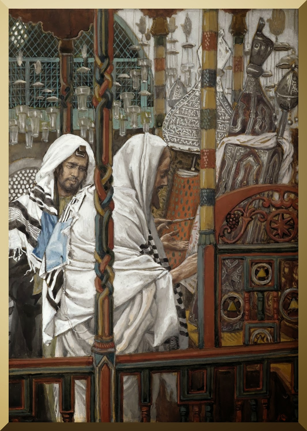 """Jesus Teaches in the Synagogues"" -- by James Tissot"