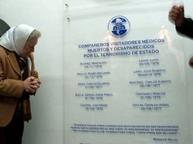 Homenaje a los Visitadores Médicos Detenidos-Desaparecidos del Genocidio de Estado