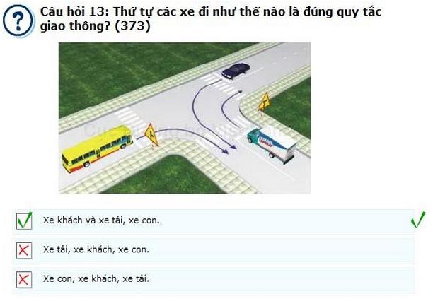 mẹo thi lý thuyết lái xe ô tô