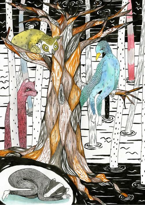 skovens dyr