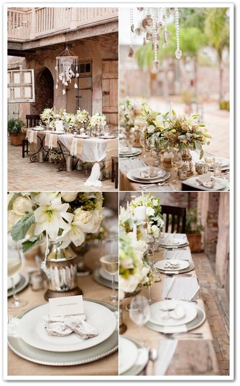 bröllopsdukning vit, vit dukning