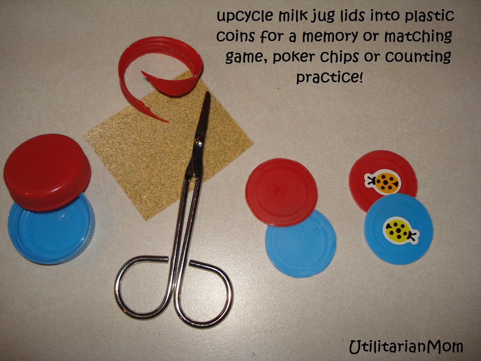 Counting Game With Poker Chips For Kids