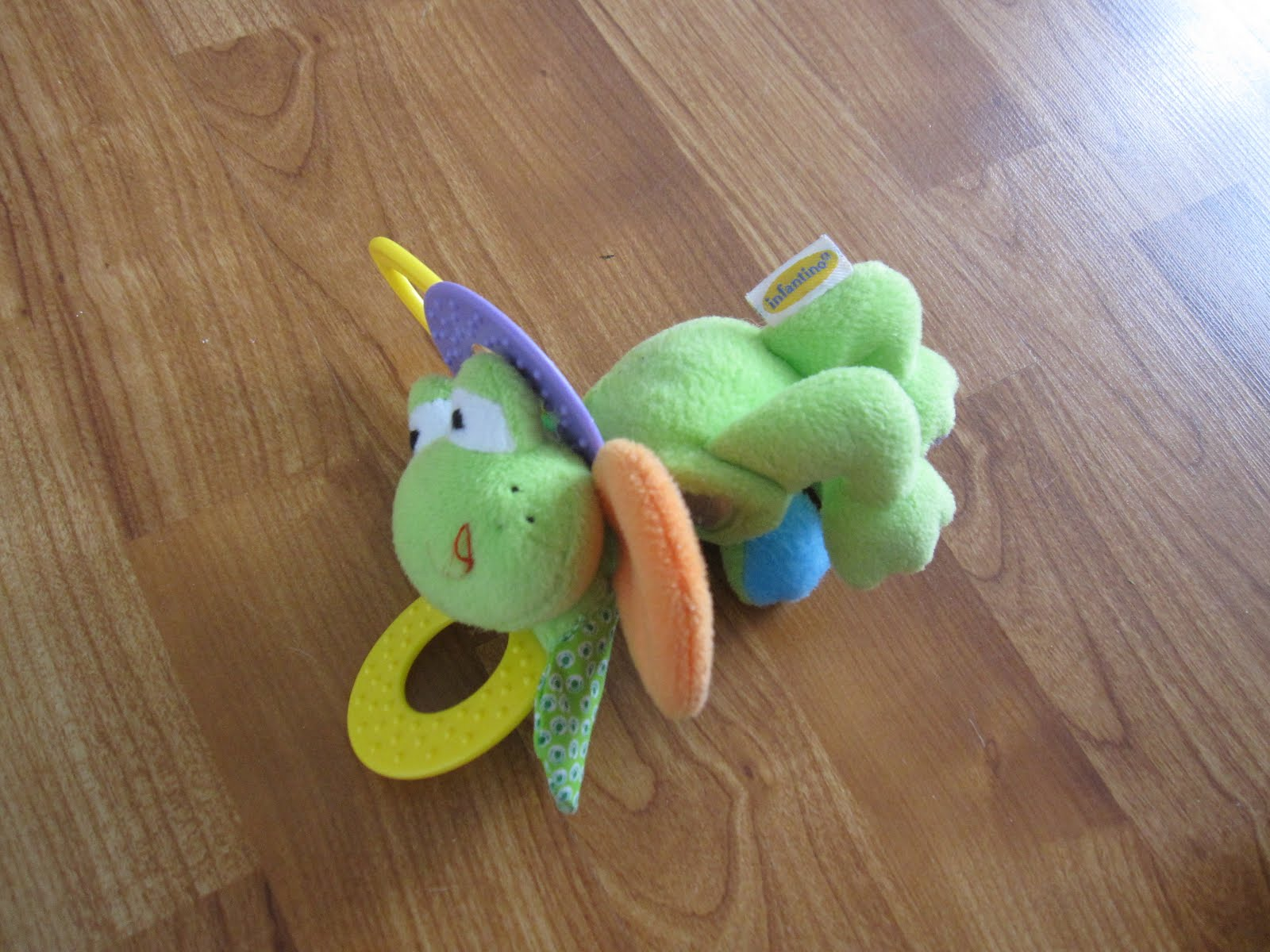 MOVING SALE - BABY GEAR/TOYS: INFANTINO FROG BABY RATTLE - $2