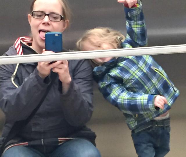 Kugelfisch-Blog: Fahrstuhlspiegel-Selfie #fescheraufzug