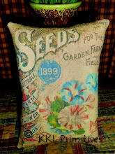 MORNING GLORY SEED PACKET PILLOW TUCK