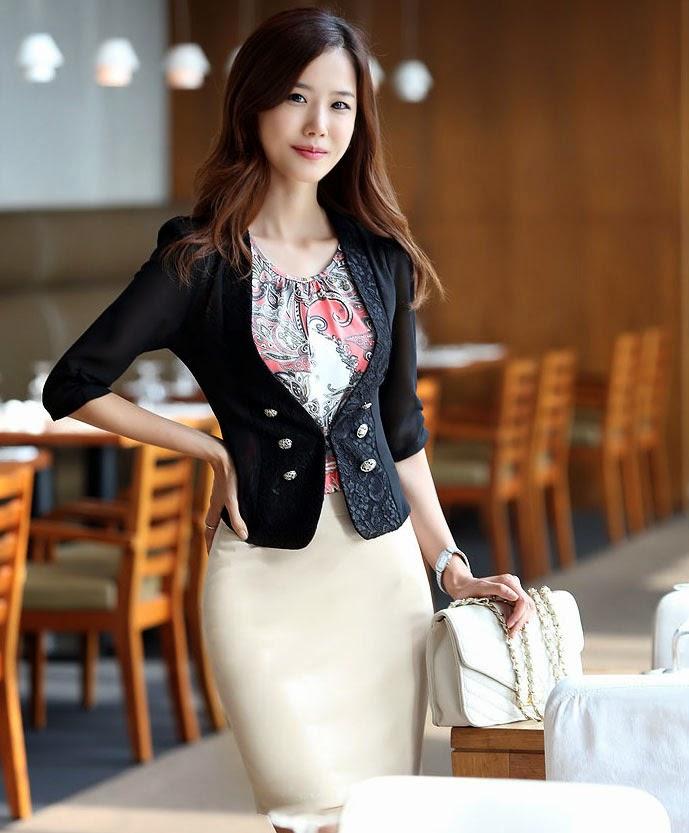 Blazer mujer moda coreana
