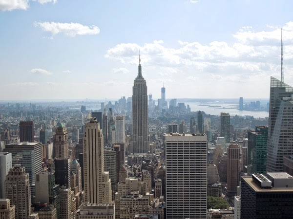 New York city skyline from Rockefeller Center