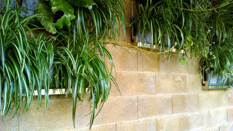 jardinera vertical con bandeja