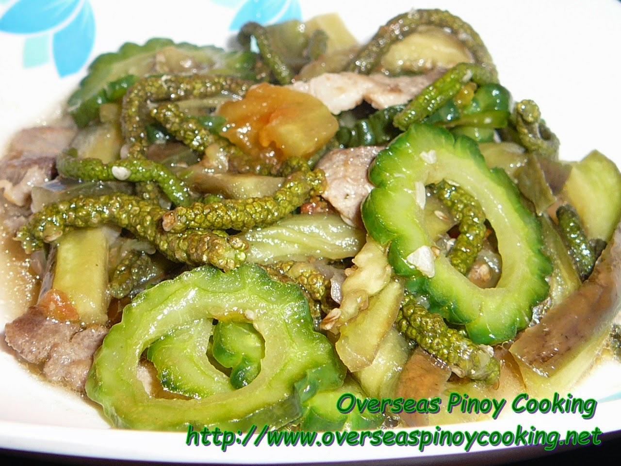 Ginisang Alukon with Ampalaya at Talong