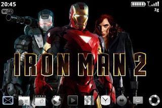 Tema IronMan utk semua model BlackBerry
